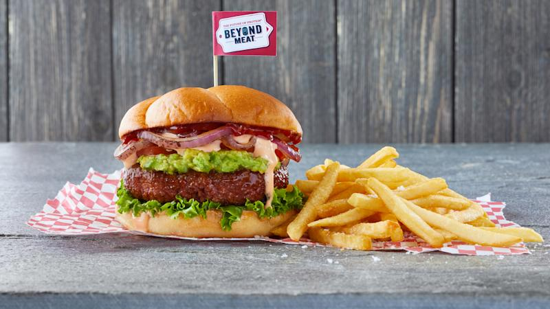 Beyond Meat's burgers are made by food scientists, plant biologists, chefs and other culinary experts, from ingredients like pea protein, beetroot, and coconut oil, but they're capturing the imagination and the palates of meat lovers everywhere. Image: Beyond Meat