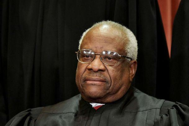 PHOTO: Associate Justice Clarence Thomas poses for the official group photo at the US Supreme Court in Washington, DC, Nov. 30, 2018. (Mandel Ngan/AFP via Getty Images, FILE)