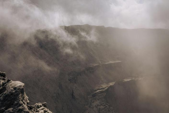 On the edge: The crater of Mount Nyiragongo