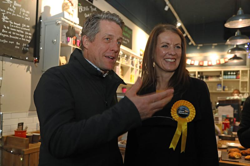 Hugh Grant had campaigned with the Liberal Democrats (Photo: PA Wire/PA Images)