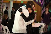 """<p>Prom was certainly not April Ludgate's scene. But after dressing against the grain in a black long sleeve lace gown, she deserved to be awarded prom queen that evening. </p><p><a class=""""link rapid-noclick-resp"""" href=""""https://go.redirectingat.com?id=74968X1596630&url=https%3A%2F%2Fwww.peacocktv.com%2Fstream-tv%2Fparks-and-recreation%3Fgclsrc%3Daw.ds%26gclsrc%3Daw.ds%26gclid%3DCj0KCQjw38-DBhDpARIsADJ3kjly1DrR4dP0m60Tx80IQ_n9VSI6lMnpLOdqZCdVSlaIgE6JjF5ezFkaAlLVEALw_wcB&sref=https%3A%2F%2Fwww.redbookmag.com%2Ffashion%2Fg36197518%2Fmost-iconic-prom-dresses-tv-movies%2F"""" rel=""""nofollow noopener"""" target=""""_blank"""" data-ylk=""""slk:STREAM NOW"""">STREAM NOW</a></p>"""
