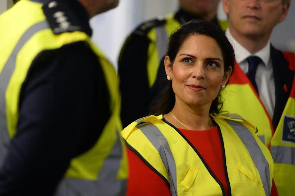 Home Secretary Priti Patel met Border Force officers in Dover as migrants continued to cross the English Channel from France (Kirsty O'Connor/PA) (PA Archive)