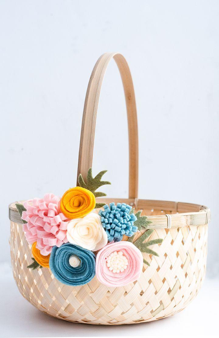 "<p>This fun DIY project requires just two supplies, but yields a sophisticated Easter basket for adults. </p><p>Get the tutorial at <a href=""https://www.aliceandlois.com/diy-felt-flower-easter-basket/"" rel=""nofollow noopener"" target=""_blank"" data-ylk=""slk:Alice and Lois."" class=""link rapid-noclick-resp"">Alice and Lois.</a></p><p><a class=""link rapid-noclick-resp"" href=""https://www.amazon.com/dp/B07KMGZ3RV?tag=syn-yahoo-20&ascsubtag=%5Bartid%7C10072.g.30506642%5Bsrc%7Cyahoo-us"" rel=""nofollow noopener"" target=""_blank"" data-ylk=""slk:SHOP FELT"">SHOP FELT</a></p>"