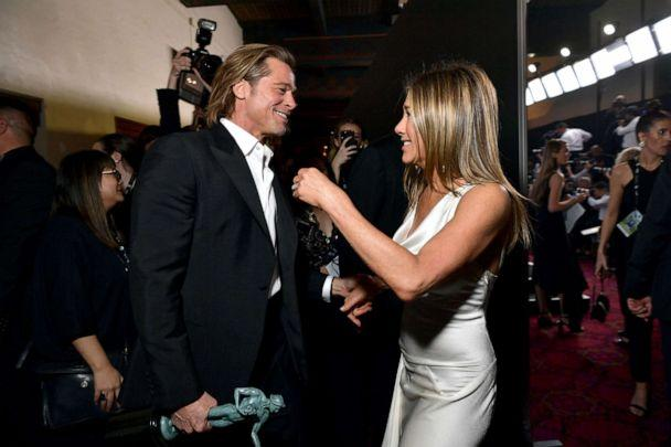 PHOTO: Brad Pitt and Jennifer Aniston attend the 26th Annual Screen Actor'sGuild Awards at The Shrine Auditorium on Jan. 19, 2020, in Los Angeles. (Emma Mcintyre/Getty Images for Turner)