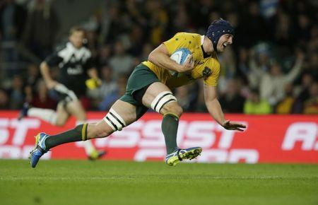 Rugby Union Britain - Argentina v Australia - Rugby Championship - Twickenham Stadium, London, England - 8/10/16 Australia's Dean Mumm scores a try Action Images via Reuters / Henry Browne Livepic