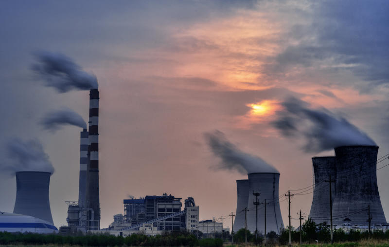 Coal-fired Power Station, Fumes, Greenhouse Gas, Environment, Factory