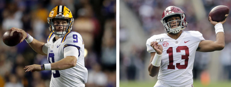 The Dolphins have ceded control of the choice for Joe Burrow or Tua Tagovailoa to the Cincinnati Bengals. (AP Photos/File)