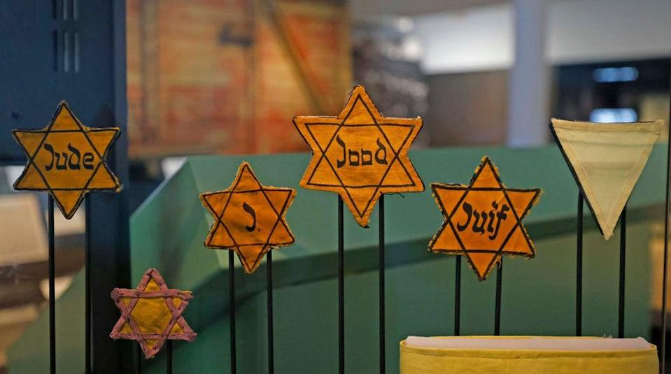 Yellow Jewish Stars at the WW2 Holocaust exhibition at the Imperial War Museum (Nigel Howard)