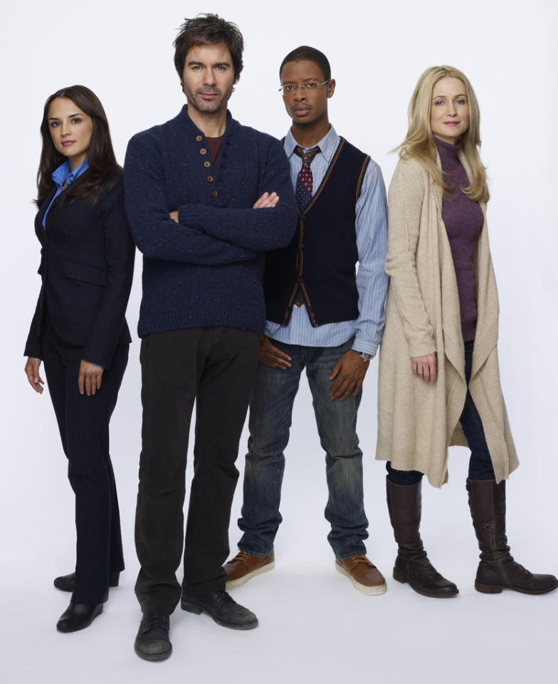 "<p><b>Perception</b> (Monday, 7/9 on TNT)<br><br> Eric McCormack is a schizophrenic neuroscience professor who works with the FBI. Say that six times fast. He's brilliant and delusional and uses his hallucinations to help solve cases. Sounds like ""House"" light, complete with the terrible acting talents of Rachael Leigh Cook.</p>"