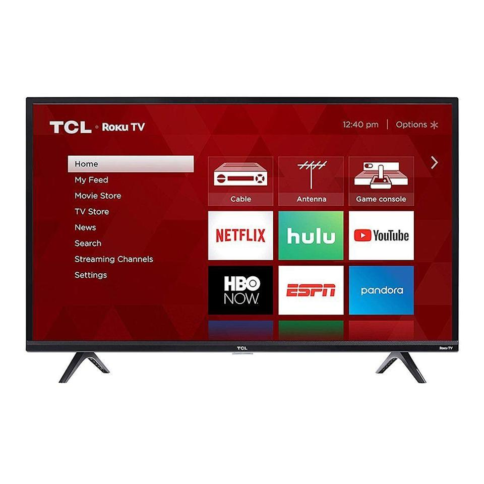 """<p><strong>TCL</strong></p><p>walmart.com</p><p><strong>$449.99</strong></p><p><a href=""""https://go.redirectingat.com?id=74968X1596630&url=https%3A%2F%2Fwww.walmart.com%2Fip%2F809029778&sref=https%3A%2F%2Fwww.bestproducts.com%2Flifestyle%2Fg32259359%2Flast-minute-fathers-day-gifts%2F"""" rel=""""nofollow noopener"""" target=""""_blank"""" data-ylk=""""slk:Shop Now"""" class=""""link rapid-noclick-resp"""">Shop Now</a></p><p>If Dad's been dreaming of a <a href=""""https://www.bestproducts.com/tech/g25714087/top-65-inch-4k-tv-reviews/"""" rel=""""nofollow noopener"""" target=""""_blank"""" data-ylk=""""slk:big-screen TV"""" class=""""link rapid-noclick-resp"""">big-screen TV</a> for ages, set him up for sweeter streaming with a new TCL TV that features a 4K Ultra HD picture with lifelike detail. </p><p>Roku TV will give him full access to services like Netflix and Hulu, and hands-free voice commands allow him to control his whole smart home without leaving the couch.</p>"""