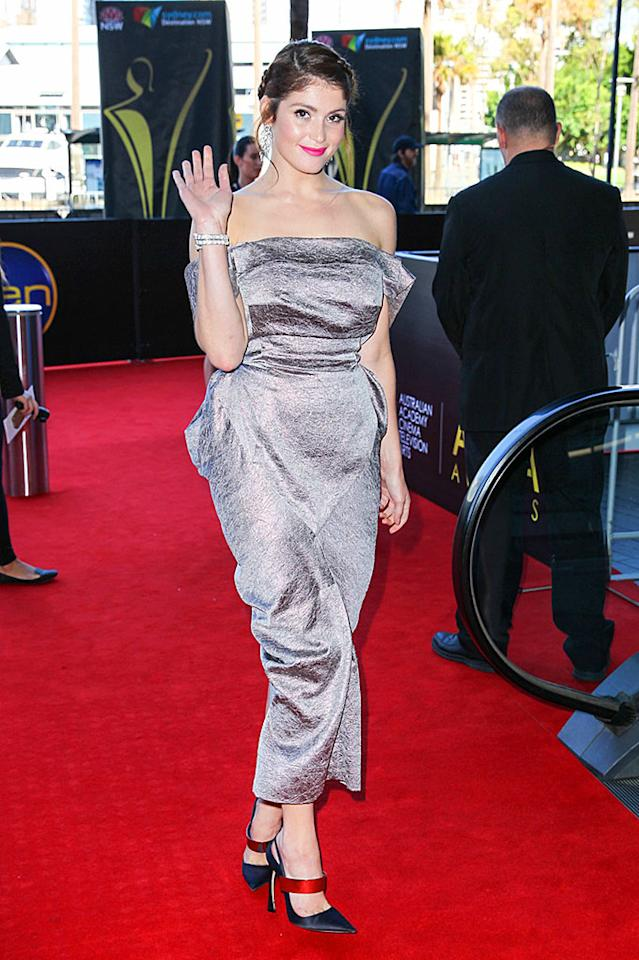 Gemma Arterton attends the 2nd AACTA awards at The Star in Sydney