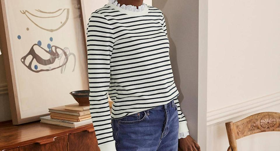 This classic Boden Breton is on sale and selling fast. (Boden)