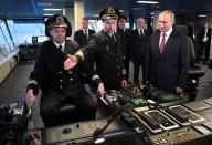 "Russian President Putin visits the new icebreaker ""Viktor Chernomyrdin"", in Saint Petersburg"