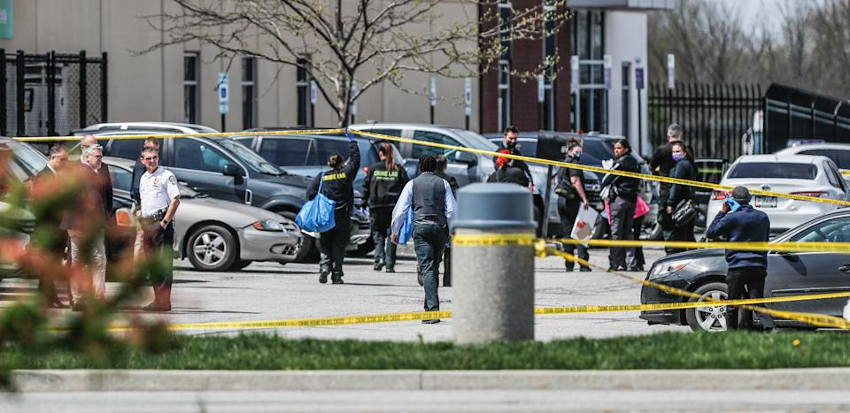 Investigators are on the scene following a mass shooting at a FedEx facility in Indianapolis.