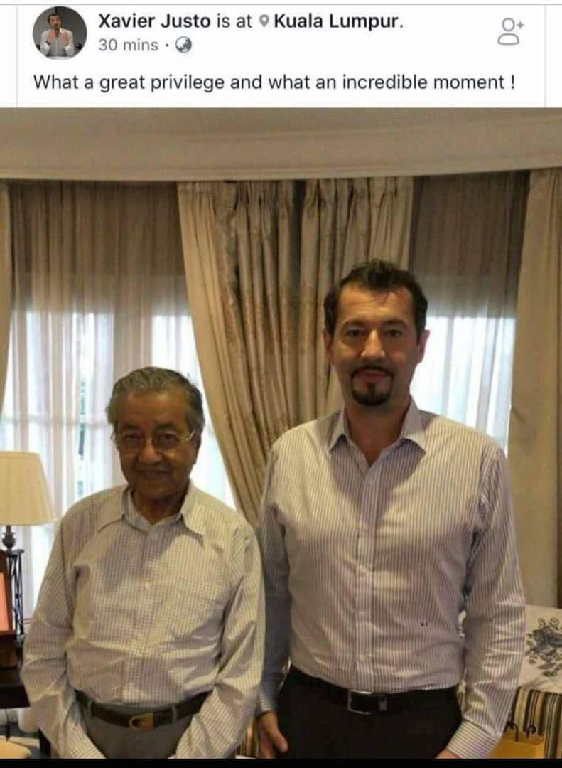 Justo called his meeting with Mahathir a 'great privilege'. — Instagram pic