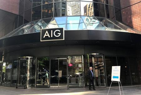 FILE PHOTO: American International Group Inc. (AIG) headquarters seen in New York