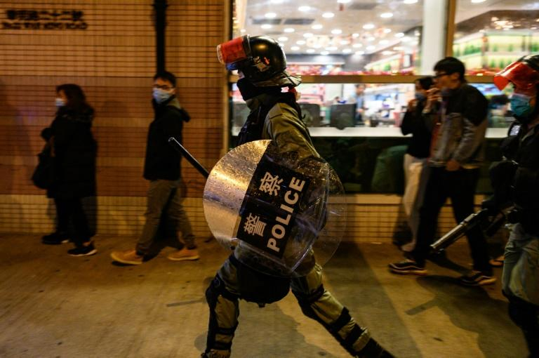 Riot police have frequently clashed with democracy protesters in Hong Kong
