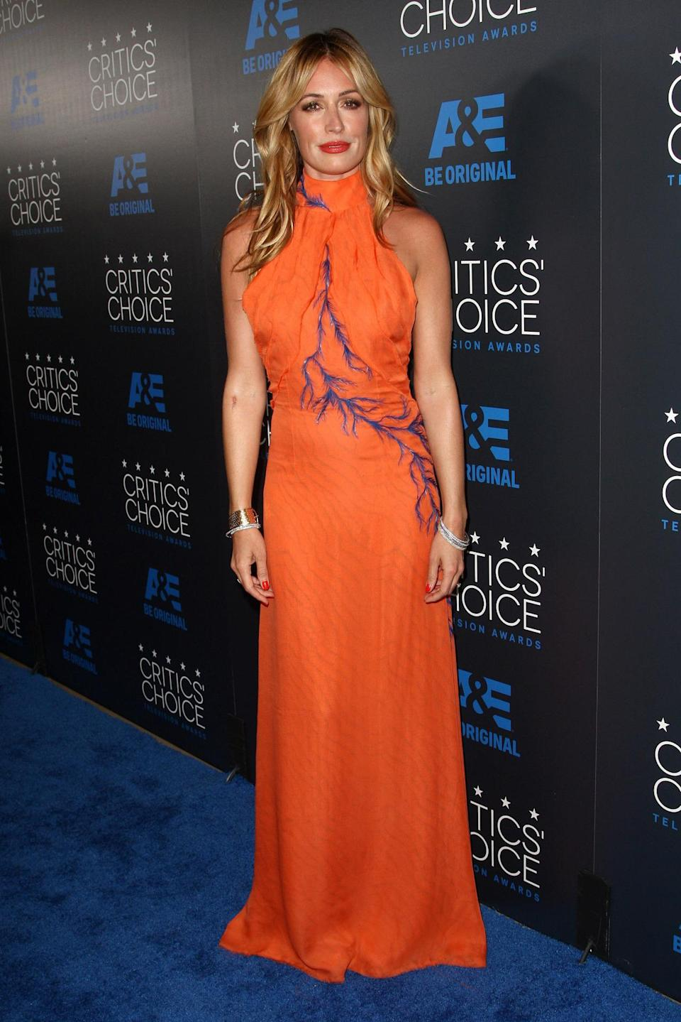 "Cat Deeley called the orange Azzaro Spring 2015 Couture gown a ""dream dress"" (and she looked like one, too)."