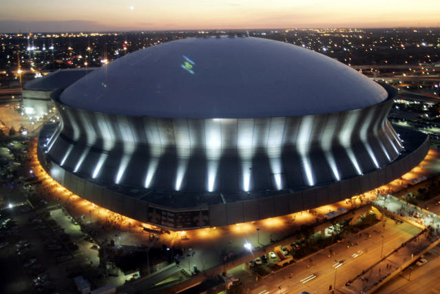 FILE - This Sept. 25, 2006, file photo shows the Louisiana Superdome in New Orleans. The NFL has awarded future Super Bowls to Arizona and New Orleans. The decision was made Wednesday, May 23, 2018, at the league's annual spring meeting in Atlanta, which will host the 2019 Super Bowl at Mercedes-Benz Stadium. (AP Photo/Judi Bottoni, File)