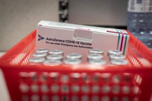 'Anyone who received AstraZeneca as a first dose is eligible to receive a Pfizer or Moderna vaccine for their second dose if that is your preference,' Saskatchewan's Ministry of Health says. (Evan Mitsui/CBC - image credit)