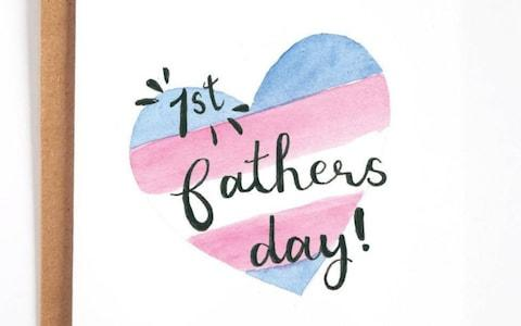 A Father's Day card aimed at men who have recently transitioned from being a woman - Credit: Little Rainbow Paper Company