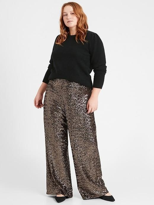<p>Pull on the <span>Banana Republic High-Rise Wide-Leg Sequin Pant</span> ($75, originally $110) and any day - and place - is a party.</p>