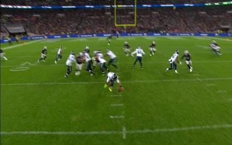 <span>Wilson drops but gathers it</span> <span>Credit: BBC </span>