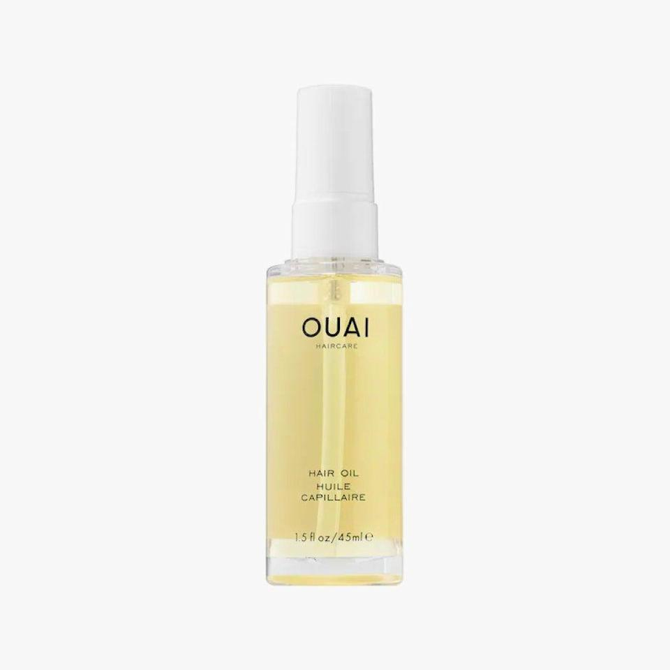 """<p>On the days when your hair could use a little extra more love this hair oil is the perfect treat. Use on dry or damp hair to give you hair that extra boost. </p><p><a class=""""link rapid-noclick-resp"""" href=""""https://www.amazon.com/Ouai-Hair-Oil/dp/B01MFXDAL8?tag=syn-yahoo-20&ascsubtag=%5Bartid%7C10065.g.37036119%5Bsrc%7Cyahoo-us"""" rel=""""nofollow noopener"""" target=""""_blank"""" data-ylk=""""slk:Shop Now"""">Shop Now</a></p>"""