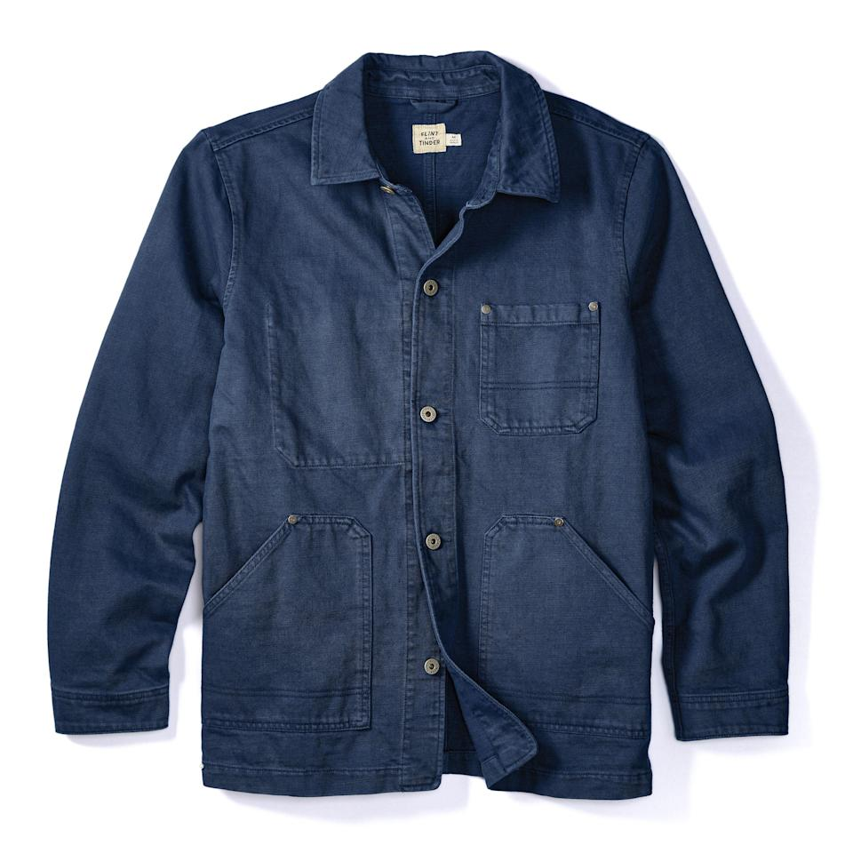 """<p><strong>Flint and Tinder</strong></p><p>huckberry.com</p><p><strong>$102.98</strong></p><p><a href=""""https://go.redirectingat.com?id=74968X1596630&url=https%3A%2F%2Fhuckberry.com%2Fstore%2Fflint-and-tinder%2Fcategory%2Fp%2F60685-chore-coat&sref=https%3A%2F%2Fwww.esquire.com%2Fstyle%2Fmens-fashion%2Fg33483963%2Fhuckberry-summer-sale%2F"""" rel=""""nofollow noopener"""" target=""""_blank"""" data-ylk=""""slk:Buy"""" class=""""link rapid-noclick-resp"""">Buy</a></p><p><em>Fuuuck</em>, man. Look at all those pockets! Think of all the shit you could potentially store (or tell yourself you could store) in those. </p>"""