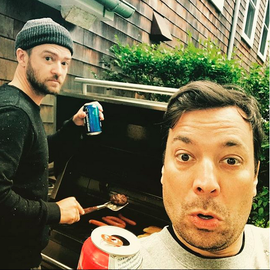 "<p>""Happy Birthday, @jimmyfallon!"" the singer wrote to the other half of his bromance. ""Remember that time when we were just two bros hanging out, drinking beer, grilling hamburgers and hot dogs and talking about life and who had the better hairline and who was always the first to crack up in our sketches… OOOH, and who would probably cry the most at the animated movies our kids watched and who was the nicer one of us two and crazy stuff like why do you park on a driveway and drive on a parkway?! Yeah… I remember that too!"" The Tonight Show host turned 43 on Tuesday. (Photo: <a href=""https://www.instagram.com/p/BZPLCnYBH07/?taken-by=justintimberlake"" rel=""nofollow noopener"" target=""_blank"" data-ylk=""slk:Justin Timberlake via Instagram"" class=""link rapid-noclick-resp"">Justin Timberlake via Instagram</a>) </p>"