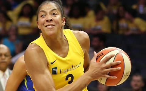 <span>Candace Parker says living in China and Russia was largely positive in growing a well-rounded daughter</span> <span>Credit: Alamy Stock Photo </span>