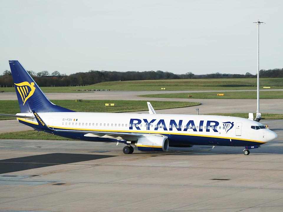 Ryanair flight had been travelling from Krakow to Dublin before being forced to land at Stansted: Getty