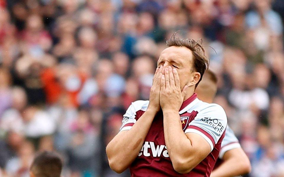 West Ham United's Mark Noble reacts after missing from the penalty spot - Action Images via Reuters/John Sibley