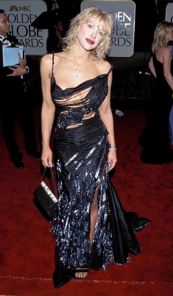 """While Courtney Love took a risk by wearing this risque dress in 2000, she rocked it on the red carpet. Kevin Mazur/<a href=""""http://www.wireimage.com"""" target=""""new"""">WireImage.com</a> - January 23, 2000"""