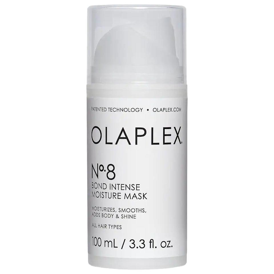 <p>Repair dry and damaged ends with the <span>Olaplex No. 8 Bond Intense Moisture Mask</span> ($28).</p>