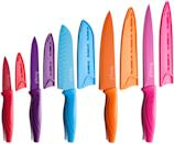 <p>Add a dash of color to your kitchen with these high carbon, stainless steal <span>MICHELANGELO Kitchen Knife Set </span> ($60).</p>