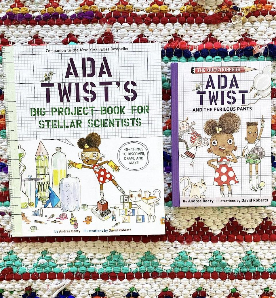 """<p>Kids can help Ada, a budding scientist, answer questions like, """"How high can a balloon float?"""" and """"Is it possible for Uncle Ned to float into outer space?"""" with an <a href=""""https://www.popsugar.com/buy/Ada-Twist-Gift-Set-579609?p_name=Ada%20Twist%20Gift%20Set&retailer=braveandkindbooks.com&pid=579609&price=30&evar1=moms%3Aus&evar9=47528625&evar98=https%3A%2F%2Fwww.popsugar.com%2Ffamily%2Fphoto-gallery%2F47528625%2Fimage%2F47528741%2FAda-Twist-Gift-Set&list1=kid%20shopping&prop13=mobile&pdata=1"""" rel=""""nofollow noopener"""" class=""""link rapid-noclick-resp"""" target=""""_blank"""" data-ylk=""""slk:Ada Twist Gift Set"""">Ada Twist Gift Set</a> ($30).</p>"""