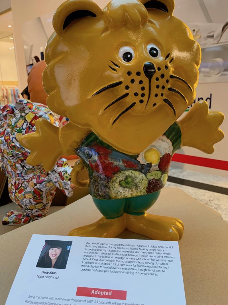SINGA mascot by food columnist Hedy Khoo. (PHOTO: Yahoo Lifestyle Singapore)