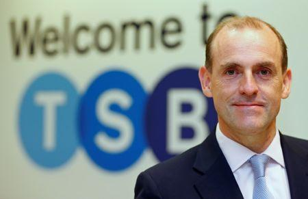 FILE PHOTO: Chief Executive of the TSB bank, Paul Pester, poses at the bank's Baker Street branch in London
