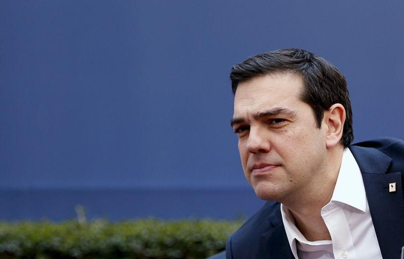 Greece's PM Tsipras arrives at a EU leaders summit over migration in Brussels