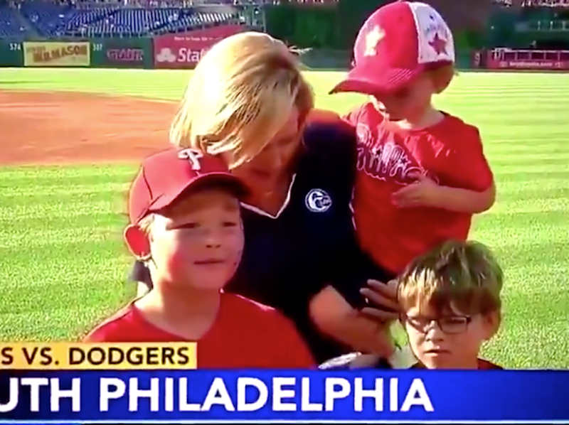 Philadelphia reporter asks two young kids in Phillies gear if the Phillies are going to win. It did not go well
