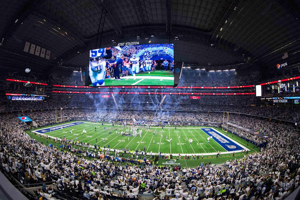 The Dallas Cowboys play at AT&T Stadium, which will host a Promise Keepers event in July.