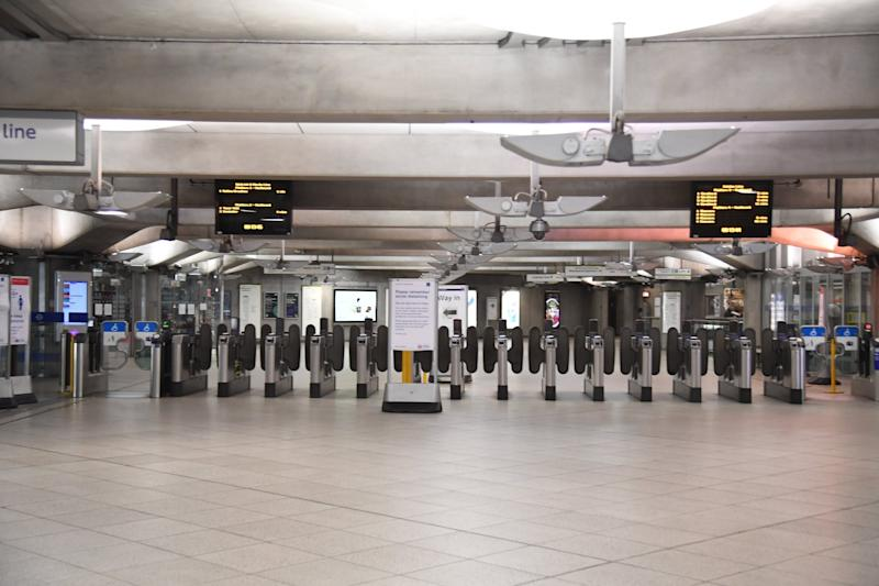Stations are reopening across the Tube network but many remain deserted (Jeremy Selwyn)