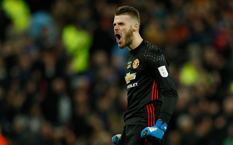 David De Gea might face a shot against Middlesbrough, now that they've parted company with Aitor Karanka - ACTION IMAGES
