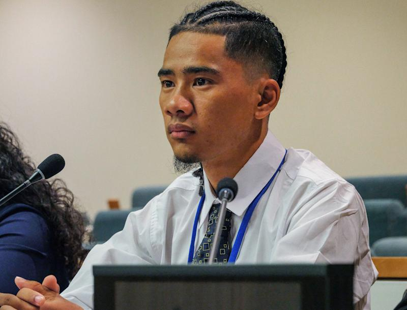 Edward Shadwig, Micronesian Red Cross Society, Youth Climate Summit, the United Nations, September 21, 2019.