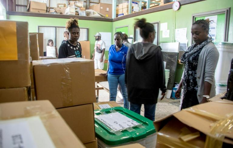 Some 207,000 Bougainvilleans are registered to cast ballots over the next two weeks to choose between full independence or simply greater autonomy within PNG (AFP Photo/NESS KERTON)