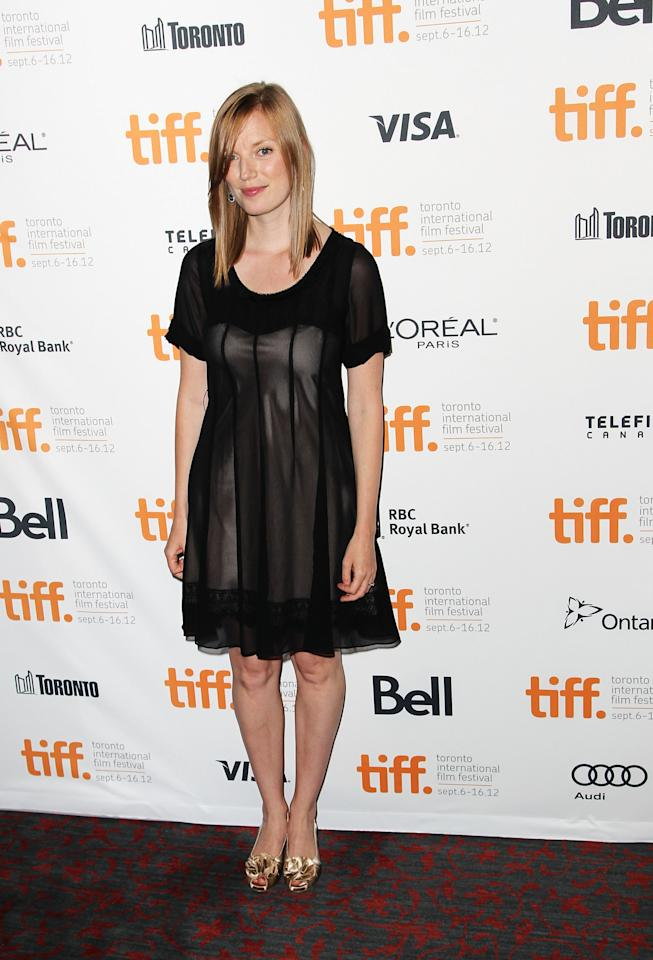 "BEST: Sarah Polley opted for a more simple, slightly sheer black dress for the premiere of her documentary, ""Stories We Tell."" It totally works for her -- though we would have gone with diferent shoes."