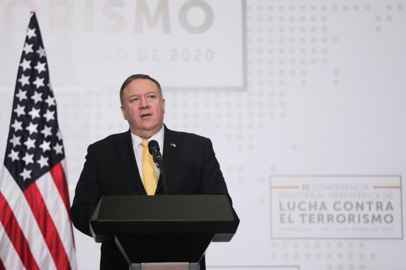 U.S. Secretary of State Pompeo attends an anti-terrorism meeting in Colombia