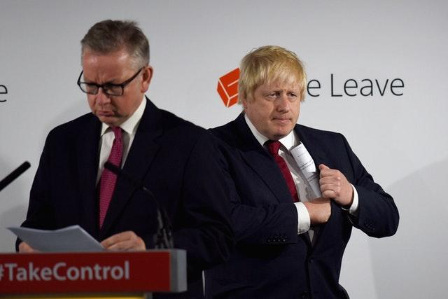 Michael Gove (left) and Boris Johnson during the Brexit referendum campaign
