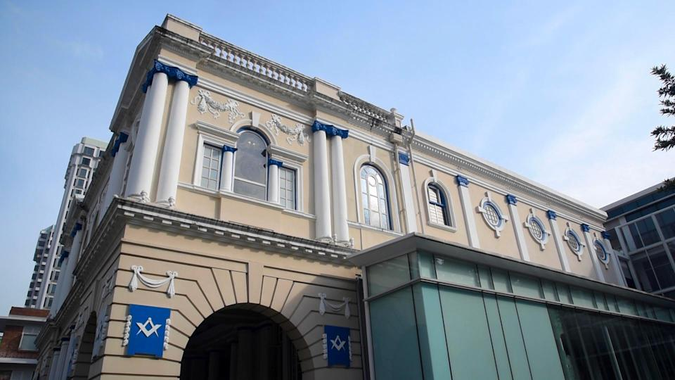 Freemasons' Hall at 23A Coleman Street in Singapore will be opening to the public on 24 November 2018 for a charity event. PHOTO: Nurul Amirah Haris/Yahoo News Singapore
